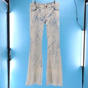 FREE PEOPLE Bali Flare Acid Wash Bell Bottom Jeans